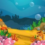 Under the Sea - Bright Coral Mural Example