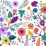 Flowers and Butterflies - Mural Examples
