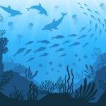 Under the Sea - Monochromatic Mural Example