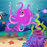 Under the Sea - Find the Fish Mural Example