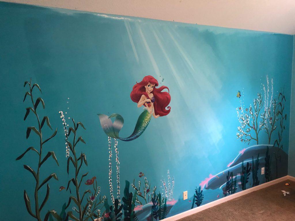 Disney Inspired Murals - Little Mermaid